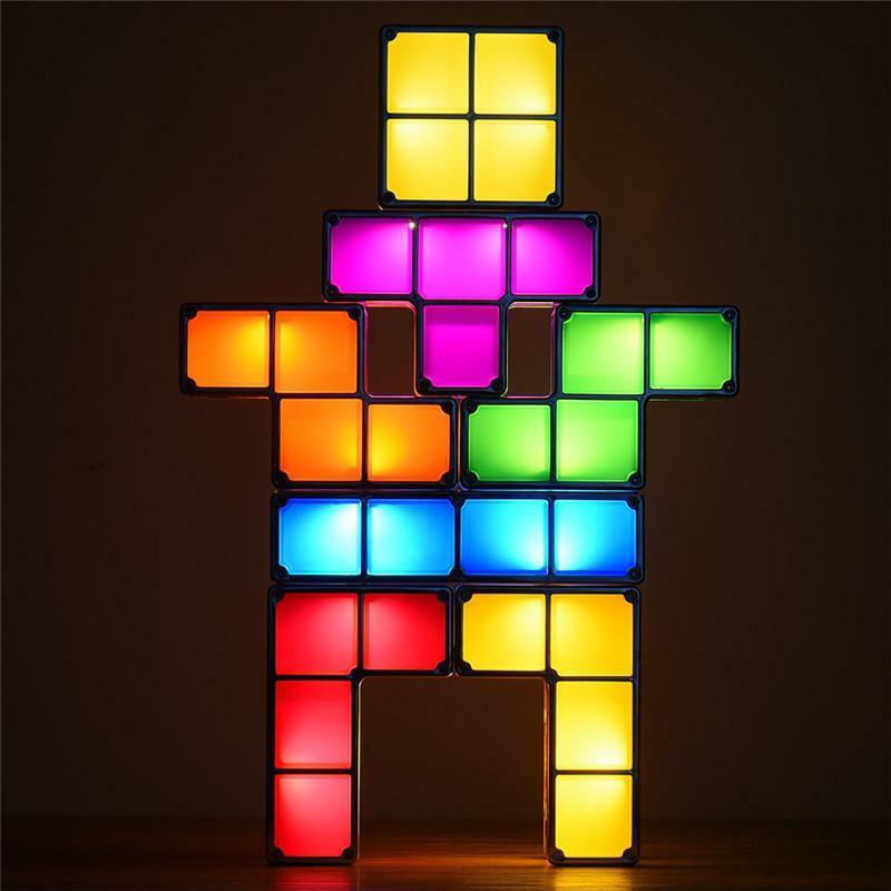 LED Διακοσμητικά Τουβλάκια Tetris - Επιτραπέζιο Παιχνίδι Exciting Brick Game Light