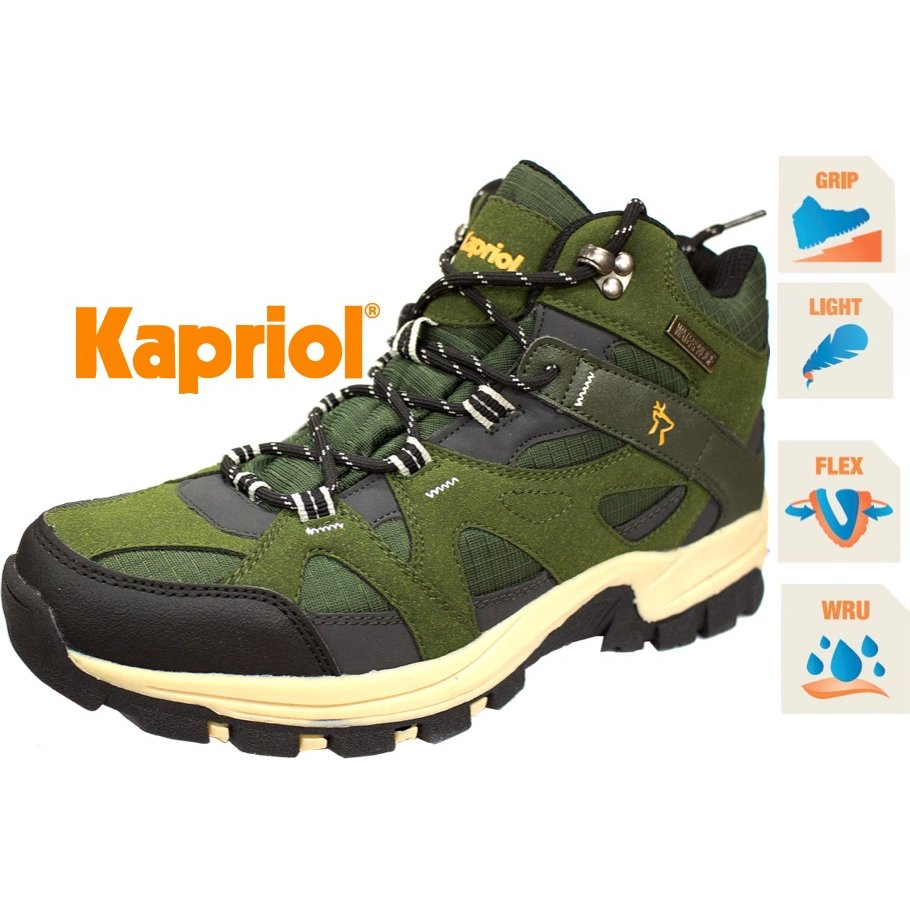 KAPRIOL Running High Waterproof Λαδί (4352)