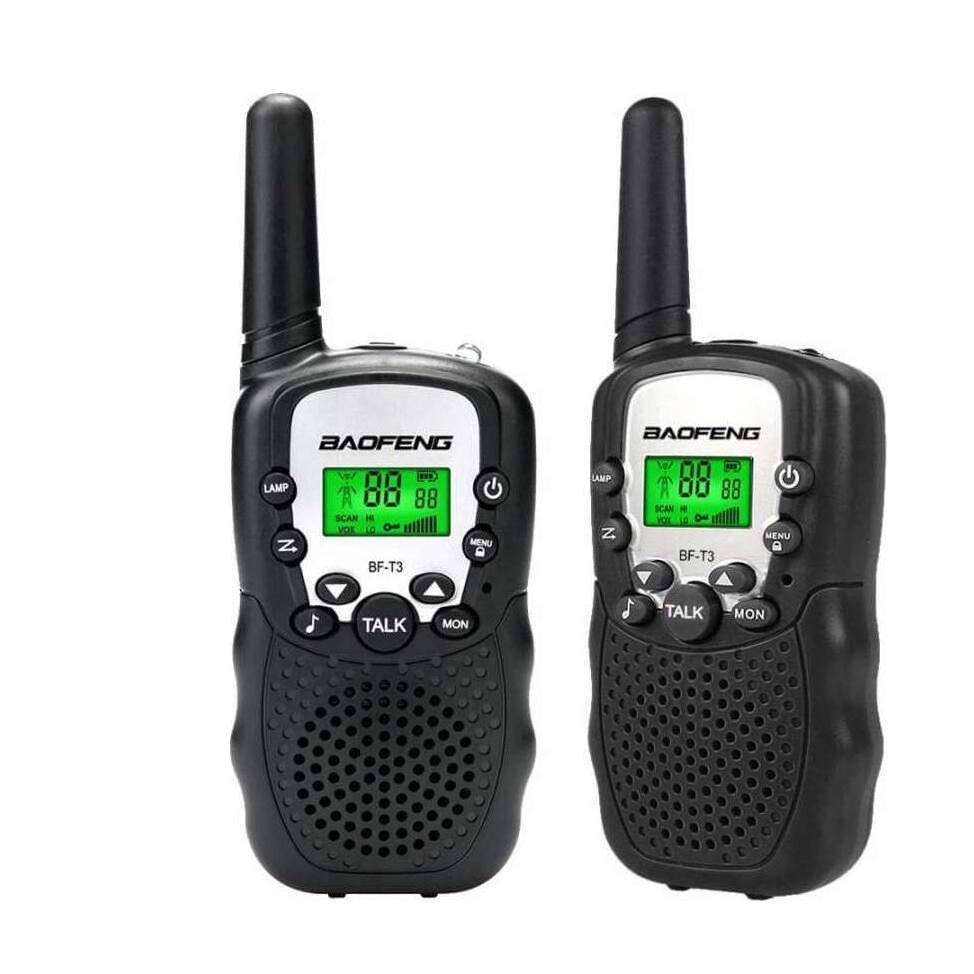 Ασύρματοι Πομποδέκτες – Eνδοεπικοινωνία Walkie Talkie σετ 2 Τεμαχίων Baofeng BF-T3 Μαύρο