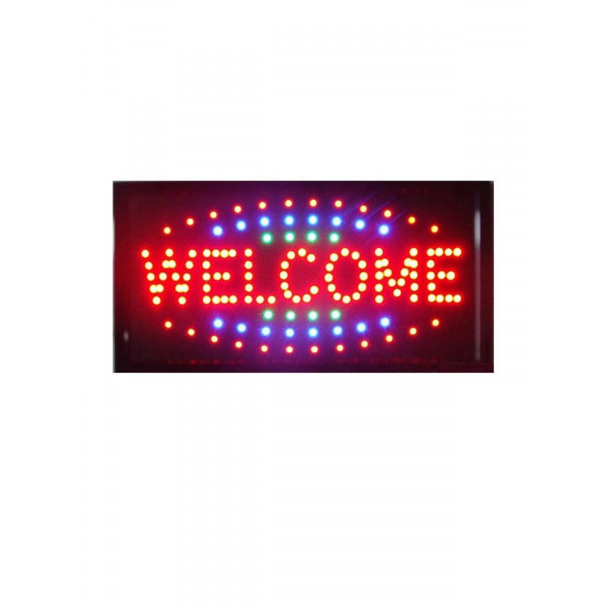 Φωτιζόμενη πινακίδα με κίνηση WELCOME