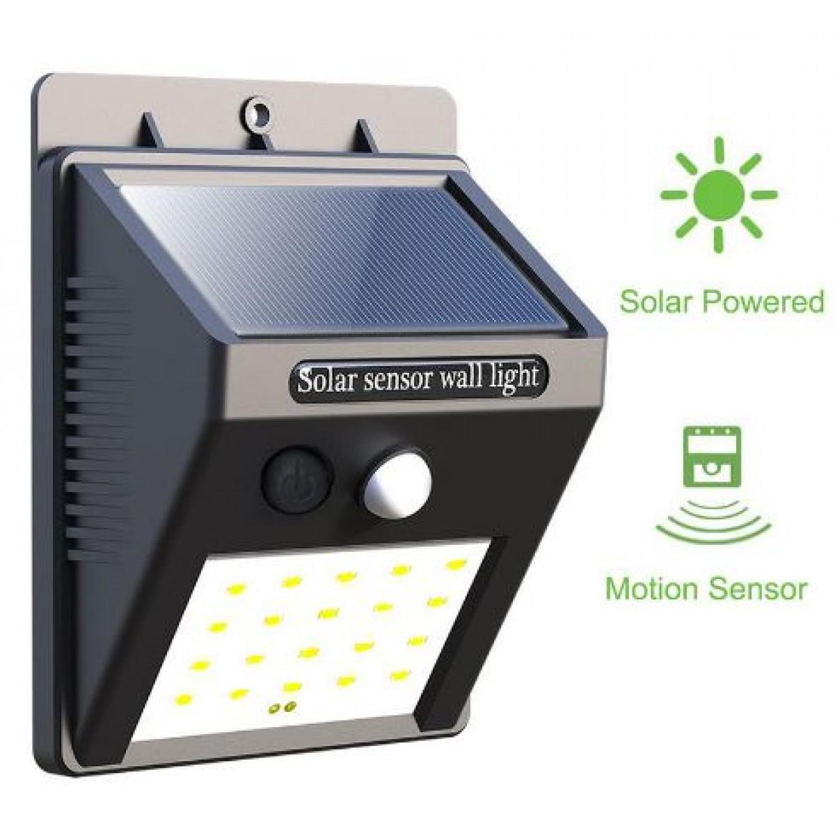 Αδιάβροχο Ηλιακό Φωτιστικό Led με Αισθητήρα Κίνησης