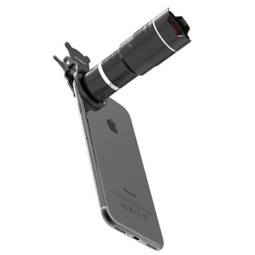 Τηλεσκοπικός φακός κάμερας Telescope Mobile Lens 14X Zoom για smartphones με τρίποδο Silver – PICKOGEN