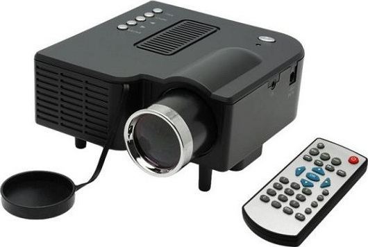 24W PORTABLE MINI LCD PROJECTOR WITH HDMI / 3.5MM / SD SLOT / AV / VGA / USB ΜΑΥΡΟ A-Z308-00A