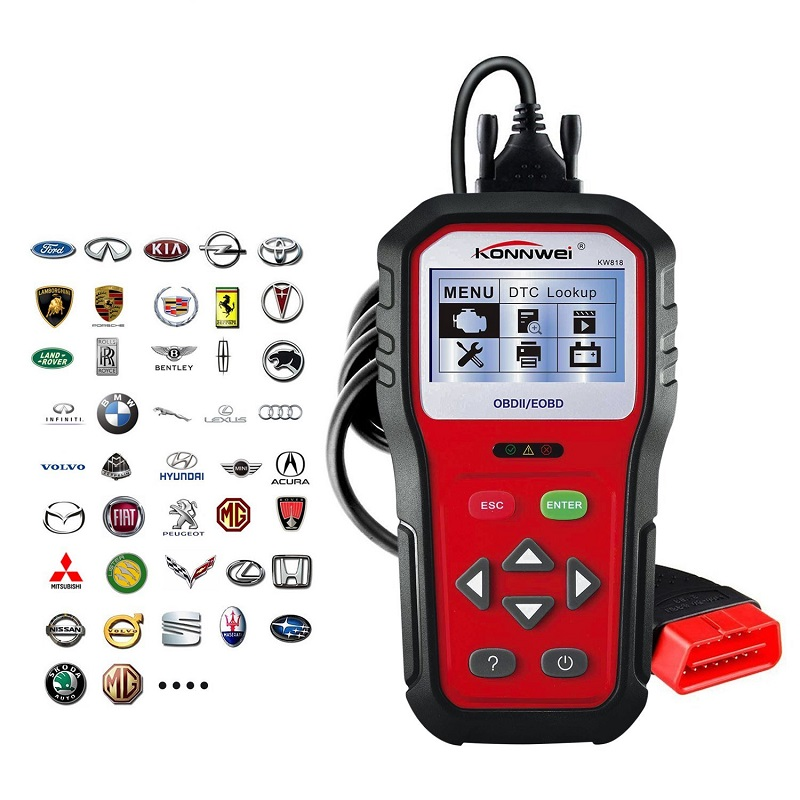 OBD2(II)/EOBD SCANNER – Διαγνωστικό αυτοκινήτων – KW818