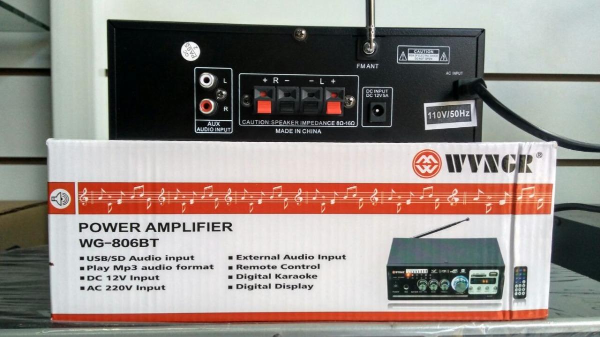 Ενισχυτής Με Λειτουργία Karaoke, WG-806BT