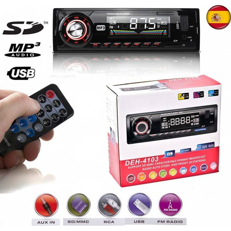 ΡΑΔΙΟ ΑΥΤΟΚΙΝΗΤΟΥ MP3 4Χ60W ΜΕ USB/SD DEH-4103