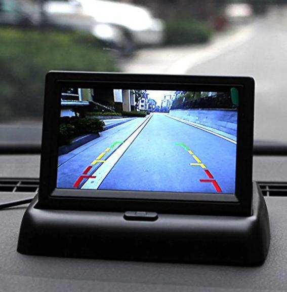 Οθόνη LCD 4.3 ιντσών TFT Monitor LED IR Reversing Camera Car Rear View Kit For Truck Bus