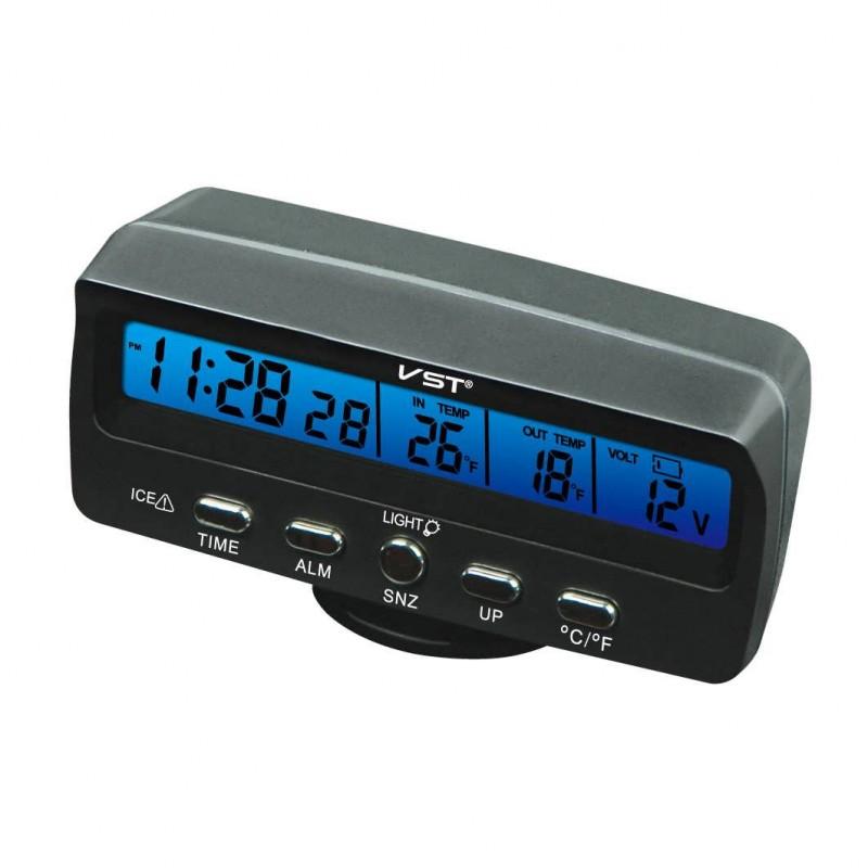 Μετρητής Κατάστασης Αυτοκινήτου με Ψηφιακό Βολτόμετρο και Ενδείξεις ώρας/θερμοκρασίας – VST-7045V