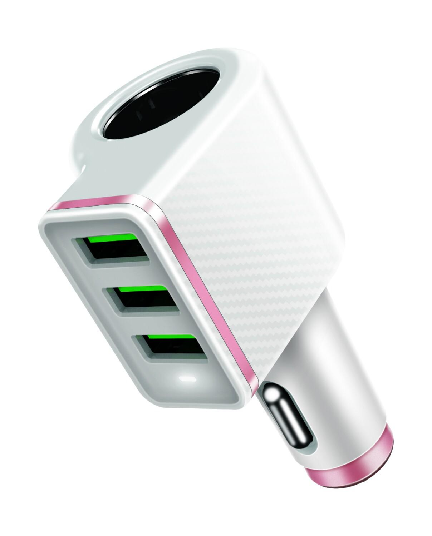 Φορτιστής usb αναπτήρας LDNIO CM12 4.2A 3 USB