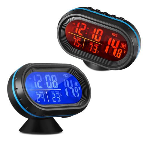 Ρολόι Αυτοκινήτου Πολλαπλών Ενδείξεων VST-7009V 4 in 1