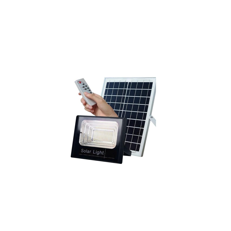Ηλιακός Solar Προβολέας Αδιάβροχος 25W με Φωτοβολταϊκό Πάνελ, Τηλεκοντρόλ και Χρονοδιακόπτη, JD-8825