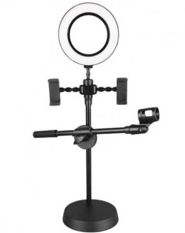 Ring Light LED με βάσεις κινητού & μικροφώνου - Live voice professional