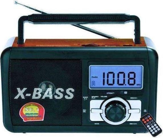 Επαναφορτιζόμενο Ραδιόφωνο Με Οθόνη Ψηφιακή USB/SD Card OEM FP-920-RC